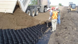 GEOWEB Road Surface Stabilization