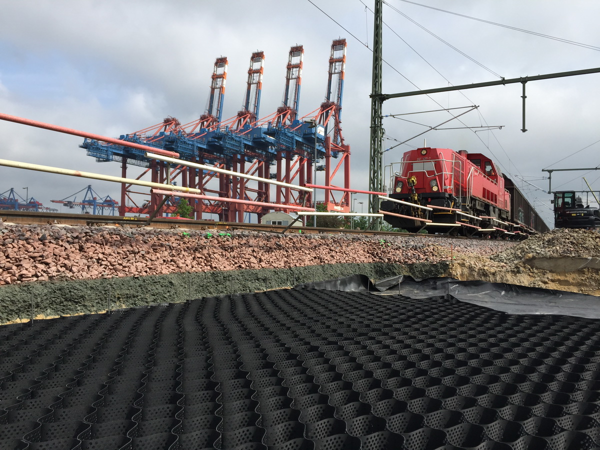 Railroad Ballast Reinforcement